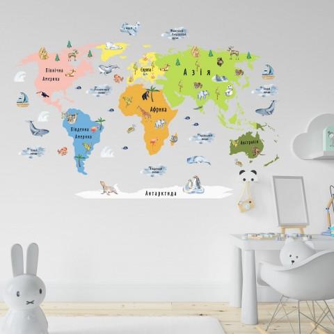 Карта мира, цвета можно менять