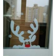 наклейка на окна Олень