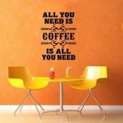 Надпись Все что тебе надо это кофе